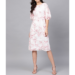 ladies white & red floral dress FOF310